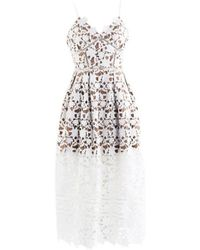 Self-Portrait - White Synthetic Dress - Lyst