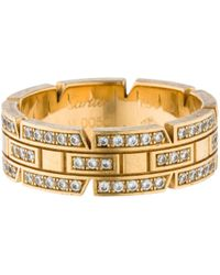 Cartier - Pre-owned Tank Française Yellow Gold Ring - Lyst