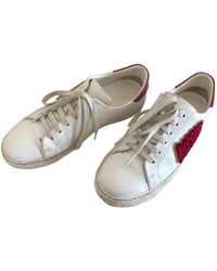 Anya Hindmarch Leather Trainers - White