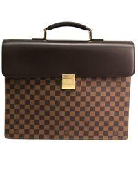 Louis Vuitton Cloth Satchel - Brown