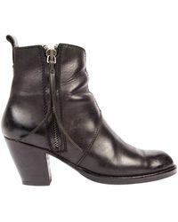 Acne Studios Pistol Black Leather Ankle Boots