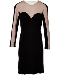 Stella McCartney - Black Wool Dress - Lyst