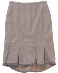 Zac Posen - Grey Wool Skirt - Lyst