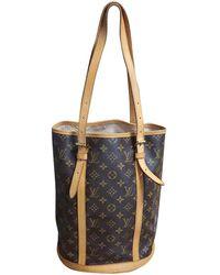 Louis Vuitton Vintage Bucket Brown Cloth Handbag - Multicolour
