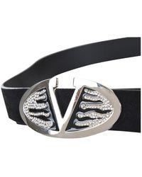Valentino Cinturón en cuero negro