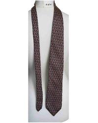 Dior Cravates en Soie Marron