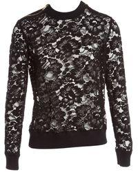Givenchy Black Cotton Knitwear