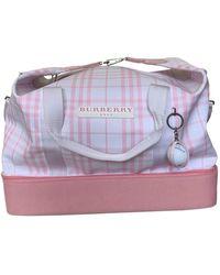 Burberry Leinen 48 std/ tasche - Pink