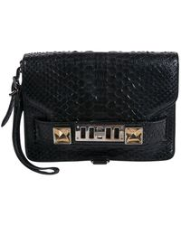 Proenza Schouler Ps1 Black Python Clutch Bag