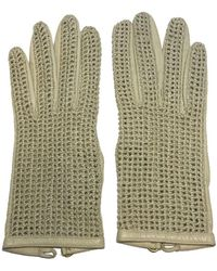 Chanel - Pre-owned Vintage Beige Leather Gloves - Lyst
