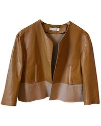 Chloé Camel Leather Jacket - Multicolour