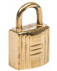 Hermès - Pre-owned Vintage Cadenas Gold Metal Pendants - Lyst