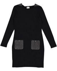 Chanel Robe \N en Laine Noir