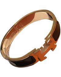 Hermès Clic H Roségold Armbänder - Schwarz