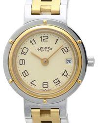 Hermès Reloj en chapado en oro dorado Clipper - Metálico