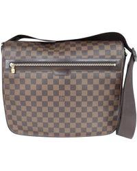 Louis Vuitton - District Brown Cloth Bag - Lyst