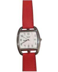 Hermès Cape Cod Tonneau Uhren - Rot