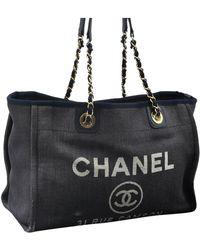 Chanel Deauville Shopper - Grau