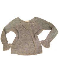 Sezane Wolle Pullover - Grau
