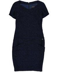 Chanel - Blue Wool Dress - Lyst