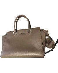 Michael Kors Selma Leather Handbag - Brown