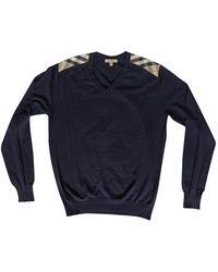 Burberry Blue Cotton Knitwear & Sweatshirt