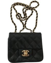 9cd72f735d08 Chanel Pre-owned Timeless Leather Crossbody Bag in Black - Lyst