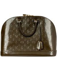 c879a23d8cfd Lyst - Louis Vuitton Monogram Canvas Handbag Alma M51130 in Brown