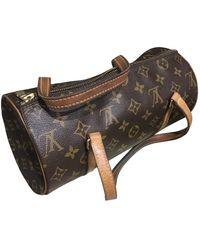 Louis Vuitton Papillon Leinen Handtaschen - Braun