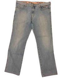 Burberry Jeans en Coton - elasthane Bleu