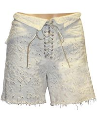 Isabel Marant Shorts in cotone bianco