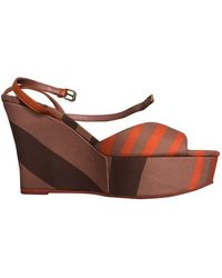 Burberry Cloth Sandals - Multicolor