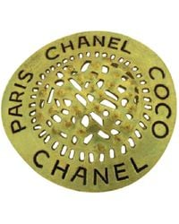 Chanel - Pre-owned Vintage Gold Metal Pins & Brooches - Lyst
