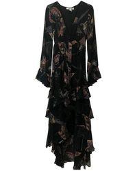 Elizabeth and James Black Silk Dress