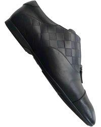 Louis Vuitton Scarpe derby in pelle nero