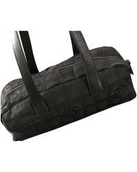 Chanel Cloth Handbag - Black