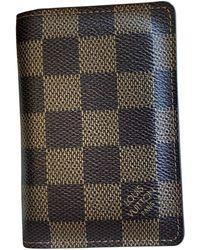 Louis Vuitton Piccola pelletteria in tela marrone Pocket Organizer