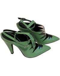 CALVIN KLEIN 205W39NYC Leather Heels - Green
