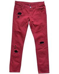 IRO Jeans en Coton Rouge