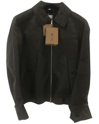 Burberry Vest.Blousons en Cuir Noir