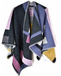 Burberry Wool Poncho - Multicolor