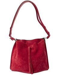 Maison Margiela - Red Suede Handbag - Lyst