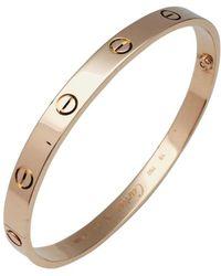 Cartier - Love Other Pink Gold Bracelets - Lyst