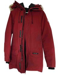 Canada Goose Mantel Polyester Rot