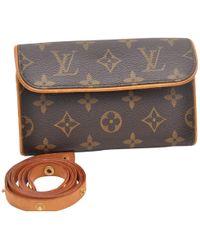 Louis Vuitton - Vintage Brown Cloth Handbag - Lyst