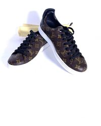 Louis Vuitton Frontrow Brown Cloth Sneakers