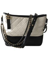 Chanel Gabrielle White Leather Handbag