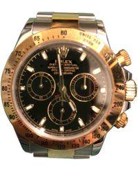 Rolex - Daytona Black Gold And Steel Watches - Lyst