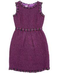 Oscar de la Renta Purple Dress