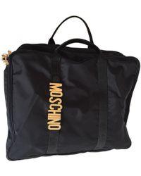 Moschino Cloth Travel Bag - Black